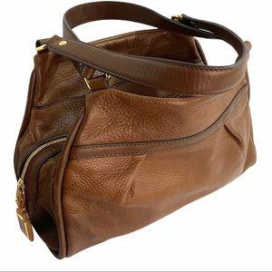Ugg Calfskin Leather Satchel Shoulder Handbag